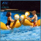 Juguetes inflables de los parachoques de los deportes de agua del juego del flotador de la piscina de la justa de 4 pedazos/conjunto