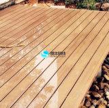 木製のプラスチック合成の薄板にされた床張りWPCの板の屋外のフロアーリングのDecking