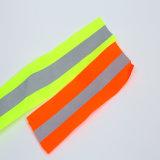 Het hoge Materiaal van de Band van de Stof van de Waarschuwing van de Polyester van het Zicht Weerspiegelende voor Veiligheid