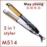 M513 2 em 1 televisões ferro alisador de cabelo design clássico