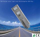 IP65 30W todos em uma lâmpada LED de luz da rua solar integrada