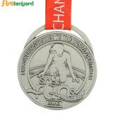 締縄が付いているカスタムスポーツメダル