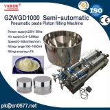 Máquina de enchimento dobro pneumática da pasta das cabeças para o limpador facial (G2WGD500)