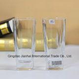 Frasco de vidro personalizado do copo de vidro do logotipo (uma caixa inclui 6 partes)