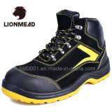 Embout en acier Semelle PU Chaussures de sécurité en cuir des chaussures en daim