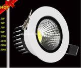 Qualität 3With5With7With9With12With15With20With30W PFEILER vertieftes LED downlight