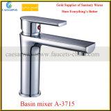 Faucet de bronze da bacia da bacia elevada do cromo para o banheiro