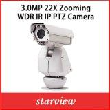 cámara al aire libre de la seguridad PTZ del CCTV del IP de 3.0MP 22X WDR