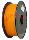 Bien enrollado, PLA 3,0 mm de color naranja de filamentos de impresión 3D