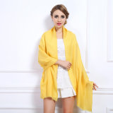 As mulheres Fashion cores simples xale de lã de inverno (YKY4520)