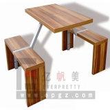 Tabella pranzante e banchi del banco della mobilia di legno dello spaccio di bevande
