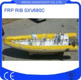 Шлюпка нервюры стеклоткани Sxv680c с PVC или пробкой Hypalon раздувной