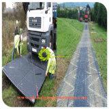 Schwarze Color/UV stabilisierte HDPE Platten-Bodenschutz im Freien mobile PET Straßen-Matten