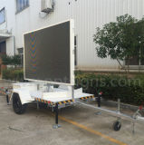 Video segni mobili portatili montati rimorchio esterno di colore completo LED di pubblicità commerciale