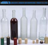 Frasco de vidro do vinho dos filtros de vidro do diamante no material Elevado-Branco