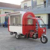 L'hamburger rouge de motocyclette électrique de chariot de nourriture transporte en charrette le camion mobile Jy-B51 de nourriture de café