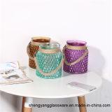형식 휴대용 다채로운 유리제 촛대