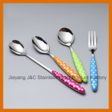아름다운 플라스틱 손잡이 칼붙이 세트 및 좋은 품질 칼붙이 세트