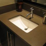 27 pouces Quartz artificielle de meubles-lavabos et une cuisine Tops