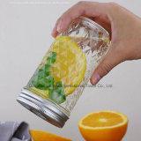 Muster-Getränkemilch-Frucht-Glasmaurer-Flasche des Diamant-350ml