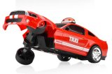 83001ds-Velocity Juguetes Músculo Taxi Mustang RC Stunt Rolling Car 1-14 RTR