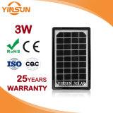 Usine de la vente directe 3w panneau solaire pour le système d'alimentation solaire