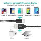 Нейлоновые экранирующая оплетка кабеля типа C для Samsung Galaxy примечание