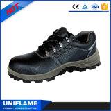 Sapatas de trabalho de aço Ufa077 da segurança do dedo do pé do tipo preto de China