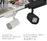시민 옥수수 속 LED 궤도 빛 50W/30W 의 세륨 RoHS를 가진 높은 CRI LED 궤도 상점 빛