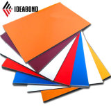 Hotsale Ideabond Panel Compuesto de Aluminio PVDF coloridos para pared Curtaina
