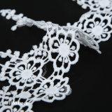 Помутнение и полиэстер подсолнечника Tassel листьев Offwhite фрезерование кружевной ткани для шторки свадебные платья