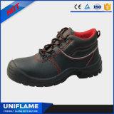 Sapatas de segurança de aço Ufa074 do couro do tampão do dedo do pé dos homens
