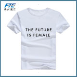 Frauen-Drucken-Form-T-Shirt mit runder Stutzen-guter Qualität