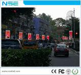 Cor P5 cheia que anuncia o sinal programável do diodo emissor de luz para a rua ao ar livre Pólo