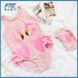 Rosa Flamingo White Swan um pedaço de crianças e calções de Bikini roupa de banho 1t 2t 3t 4t 5t
