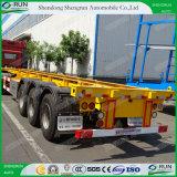 Aanhangwagen Van uitstekende kwaliteit van de Vrachtwagen van de Container van het Skelet van Shengrun de Semi