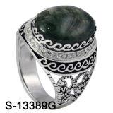 925 silberne Schmucksachenzirconia-Mann-Ringe mit natürlichem Achat