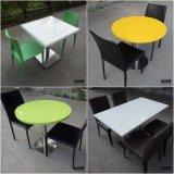 固体表面表の家具のレストランのダイニングテーブルおよび椅子