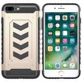 Caso híbrido a prueba de choques de la capa doble para el iPhone 7 más