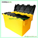70L Almacenamiento Facturación Logística de plástico apilables Tote con tapas
