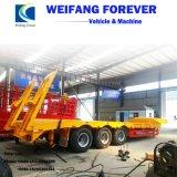 永久にWeifang半80のトン3の車軸低いベッドのトレーラー