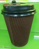 Устранимое Coffee Cups, пойти бумажный стаканчик Ripple с Lid