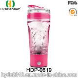 botella plástica portable del mezclador de la proteína del vórtice 500ml, botella eléctrica plástica de la coctelera de la proteína (HDP-0619)