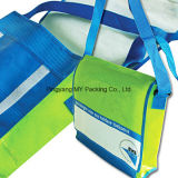 Saco tecido PP relativo à promoção do saco do ombro feito sob encomenda das mensagens dos adolescentes