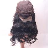 Женщин шнурка человеческих волос 100% парик шнурка реальных бразильских шелковистых шелковистых прямых полный