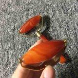 Оптовая торговля природным чистый красный Агат двойной цилиндрический лица Массажный ролик
