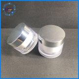 30g/50g de creme facial redonda jarra de cosméticos de alumínio