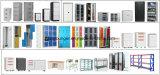 Two-Tone Möbel-Metallaktenspeicherungs-vertikaler Büro-Datei-Sicherheitsschloss-Faltblatt-Stahlschrank