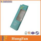 Kundenspezifischer Firmenzeichen-Fall-Loch-Geschenk-Papier-Paket-Kasten mit Belüftung-Fenster