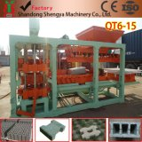 Entièrement construit automatiquement la machine à fabriquer des briques / machine à béton creux en béton (QT6-15)